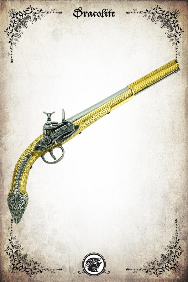 pistolet a silex algerien miquelet du 19eme siecle