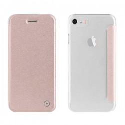 coque etui a rabat rose muvit smartphone iphone 7 8