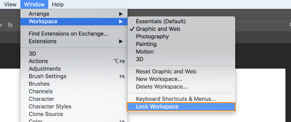Boutique Retouching lock_workspace 5 Top New Features In Photoshop CC 2019