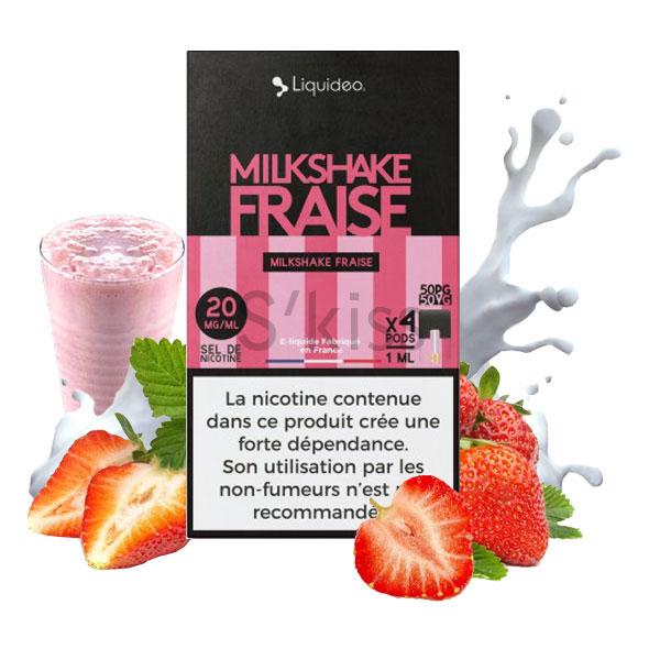 pods milkshake à la fraise pour wpod de liquideo