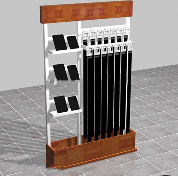 wood wallet belt display rack design