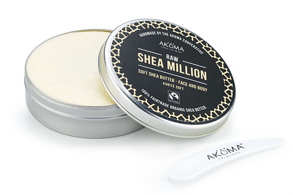 Feel a million dollars with Shea Million and support the women of the Akoma Cooperative