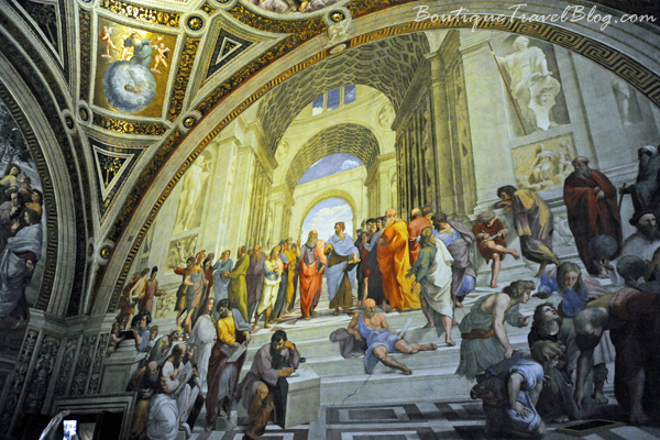 School of Athens one of the many famous frescoes by the Italian Renaissance artist Raphael