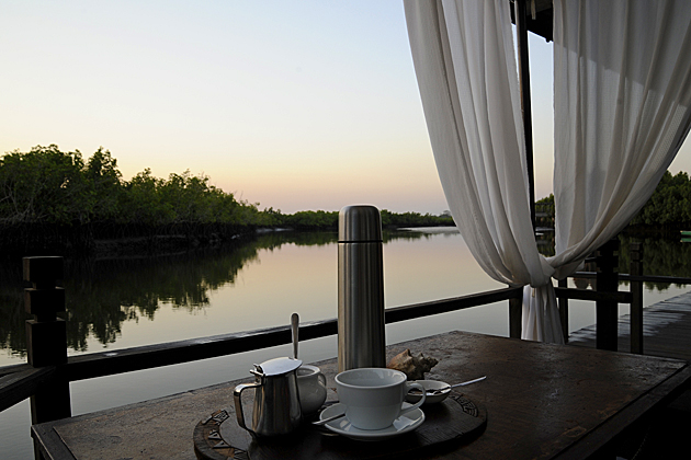 Morning coffee at Mandina Lodges