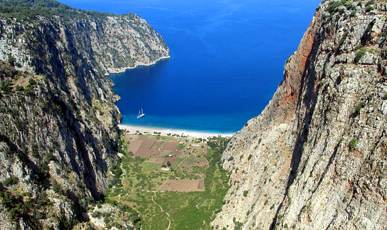 The nearby Butterfly Valley