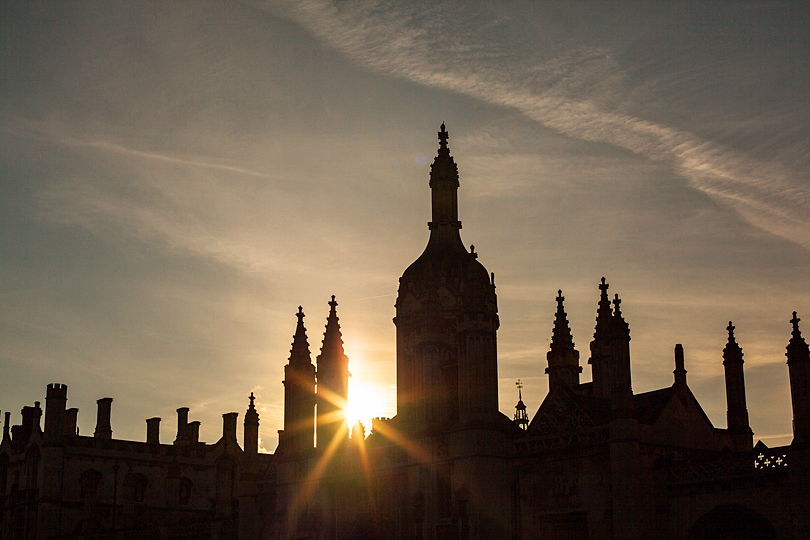 Kings College, Cambridge sunset