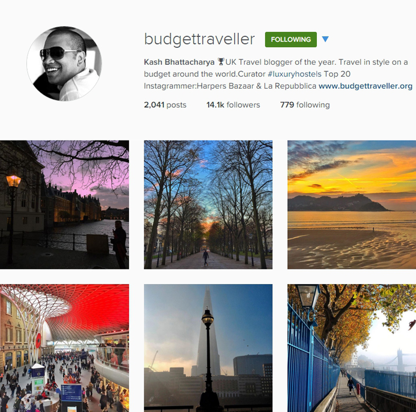 Budget Traveller on Instagram