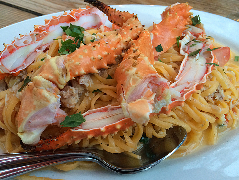 Fresh crab pasta at Cuckoo in Coombs