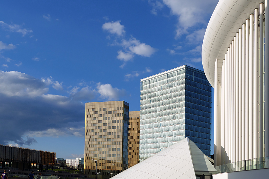 Kirchberg financial district of Luxembourg