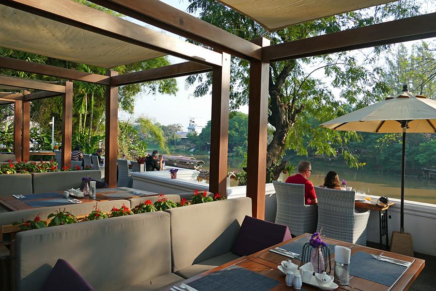 Breakfast time at Na Nirand Romantic Boutique resort, Chiang Mai, Thailand