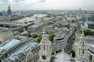 View over London from St Paul's Cathedral