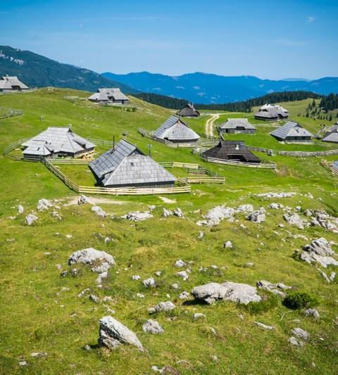 Velika Planina en Slovénie