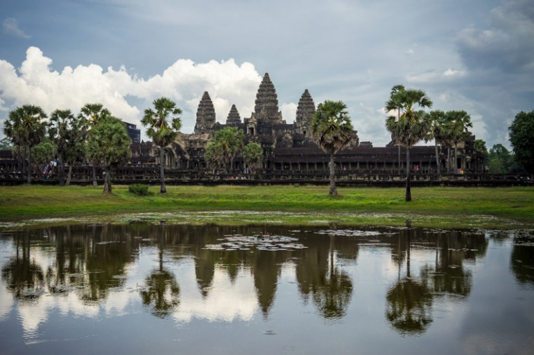 Vue sur Angkor Wat au Cambodge