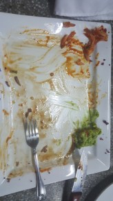 Unfinished guacamole