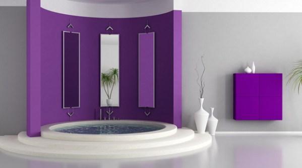 Дизайн ванной сиреневого цвета + фото