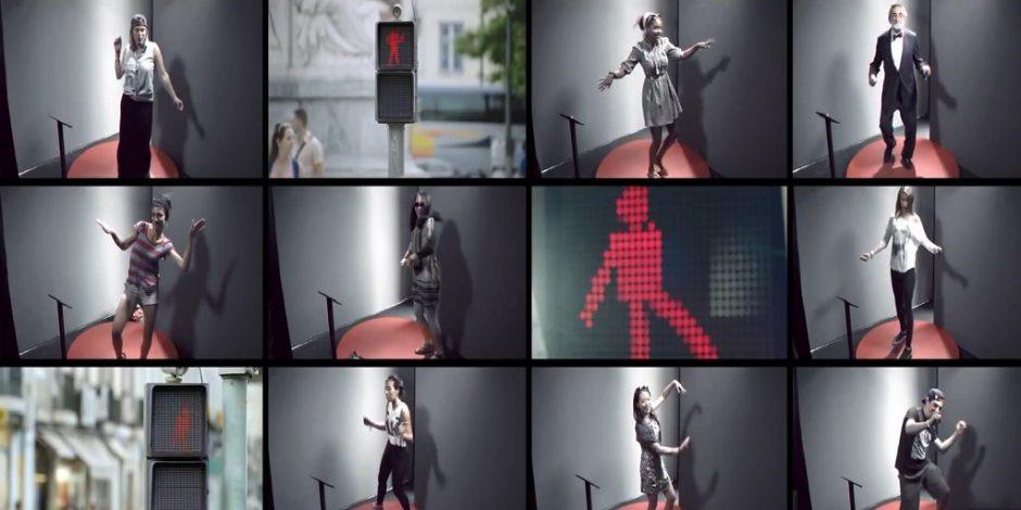 Dansend verkeerslichtmannetje
