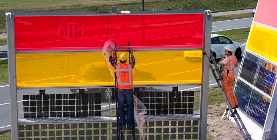 Innovatieve zonnepanelen in geluidsschermen