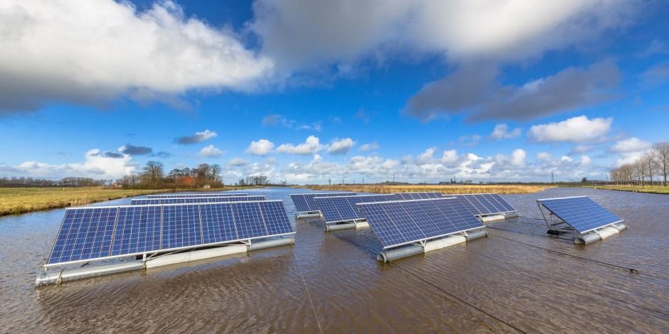 Energie uit flexibele, drijvende zonnepanelen
