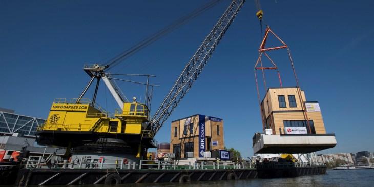 Duurzame waterwoningen in Rotterdamse Nassauhaven