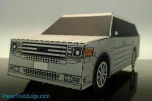 bouwplaat-papercraft-ford-flex-papertrucklogo-bouwplaatvanjeeigentruck.nl