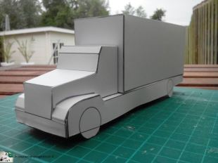 bouwplaat-paper model-box truck