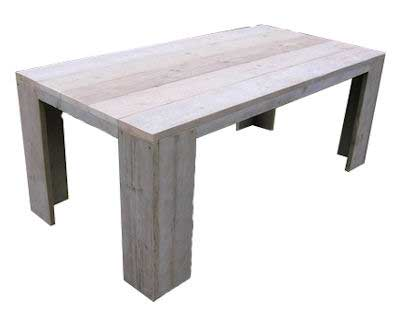 Tafel Steigerhout Tekening : Steigerhouten tafel maken een bouwtekening vind je hier