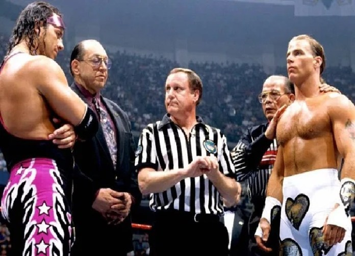 Bret Hart and Shawn Michaels were involved in one of the biggest controversies in wrestling history at the 1997 Survivor Series in Montreal
