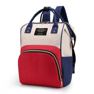 Mum Diaper Bag Red and Blue