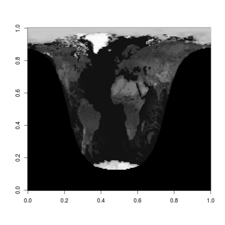 Albedo of the Earth's surface at 1200 GMT, July 4th, 2014.