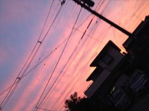 何がか起きそうな空ですね(~_~;)