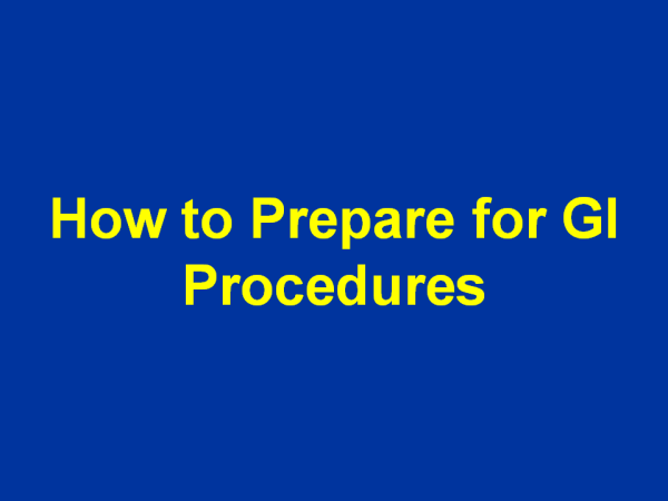 How to prepare for GI procedures