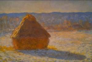 Haystacks in Snow by Monet