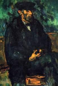 Portrait of Vallier by Cezanne
