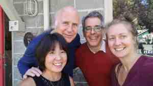 Jonathan Damonte seen with Mai, John and Erica - Salt Spring Island 2017