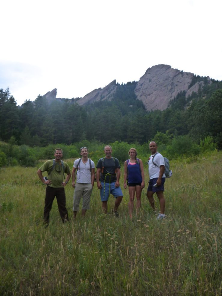 AdMonsters group climbing in the Flatirons