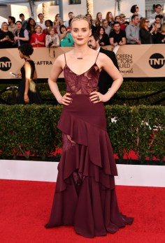 Mandatory Credit: Photo by Rob Latour/REX/Shutterstock (8137126fd) Taylor Schilling The 23rd Annual Screen Actors Guild Awards, Arrivals, Los Angeles, USA - 29 Jan 2017