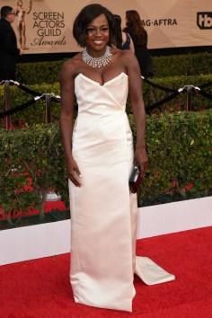 Mandatory Credit: Photo by Stewart Cook/WWD/REX/Shutterstock (8137136fw) Viola Davis The 23rd Annual Screen Actors Guild Awards, Arrivals, Los Angeles, USA - 29 Jan 2017