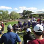 Bowers Golf instructors teaching to a group of students at Desert Willow