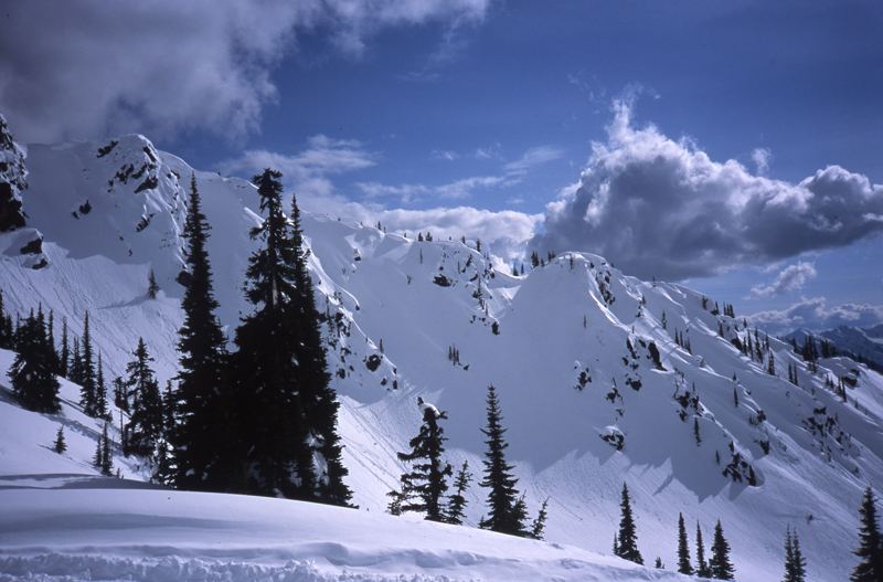 Great Northern Snow-Cat Skiing mountain scene-British Columbia
