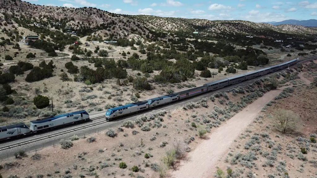AMTRAK at Lamy, New Mexico