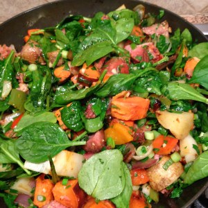 spinach and veggies