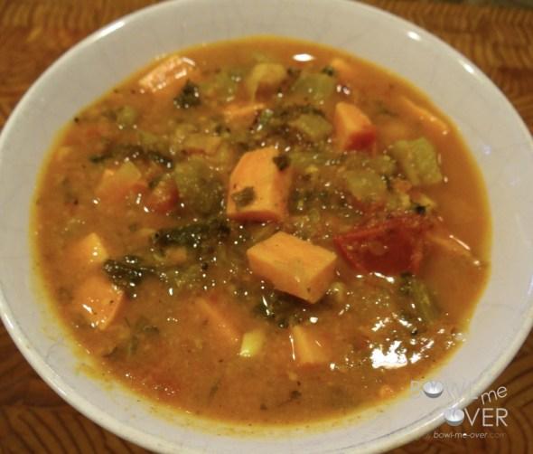 Sweet Potato & Kale Spiced Soup