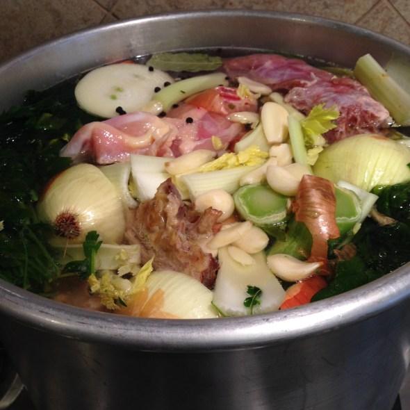 stock simmering