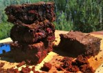 Fudgy Chocolate Cherry Brownies with Cocoa Nibs
