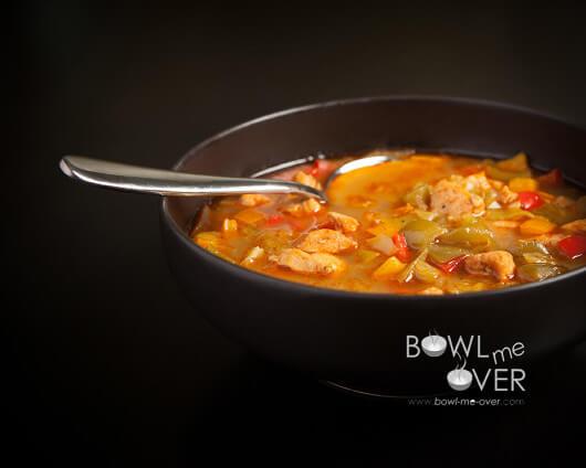 Finished Tri-Pepper Chicken Stew