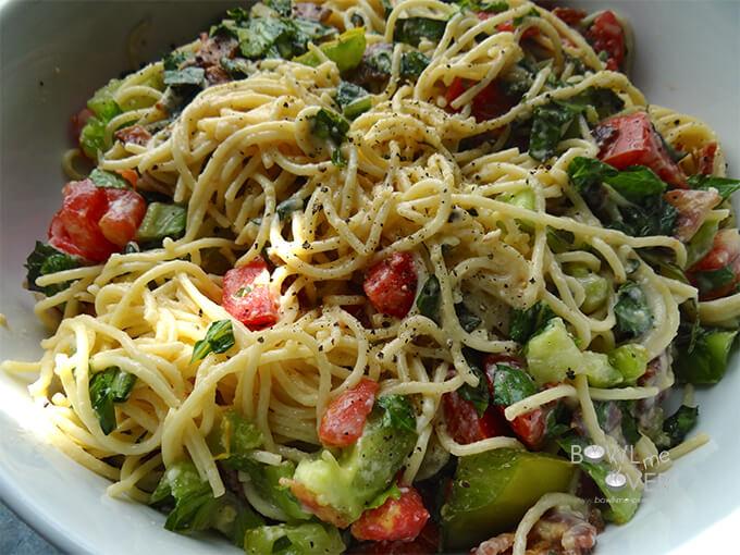 BLT Spaghetti Carbonara