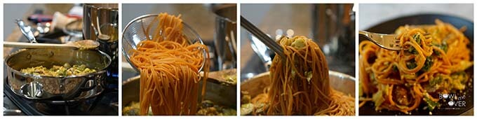 Butternut Squash Pasta Collage