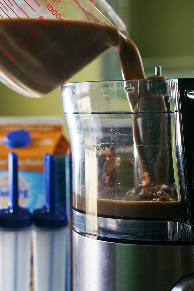 Add the ingredients to your blender or food processor and give it a whirl