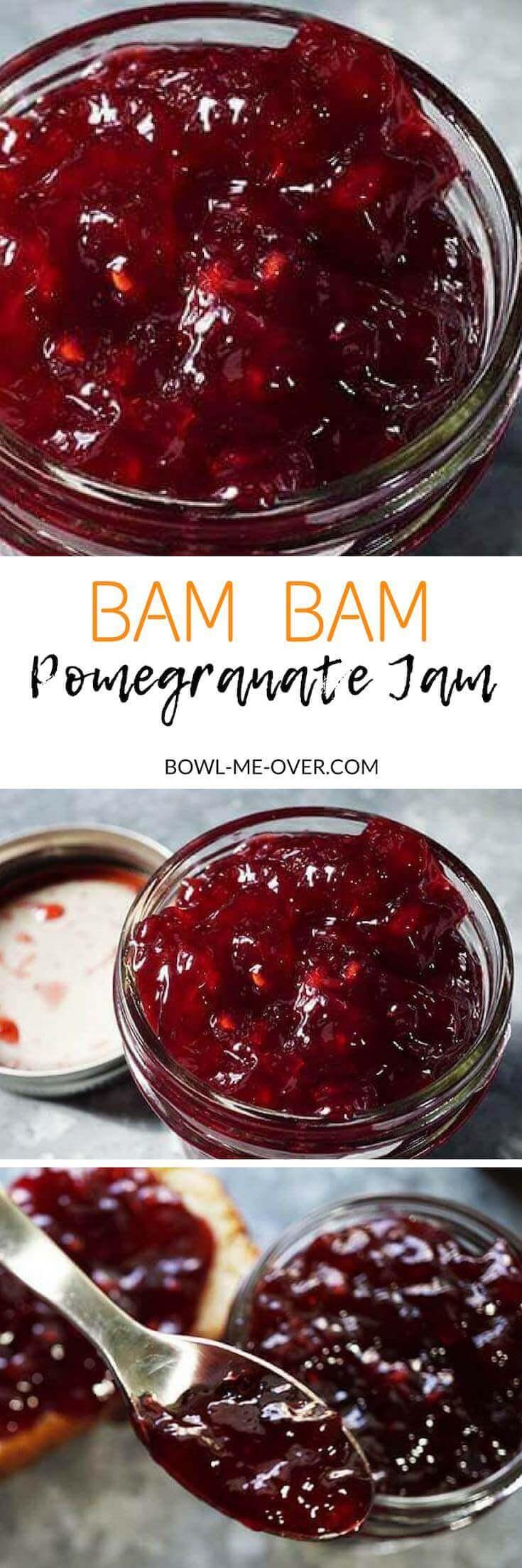 Homemade Jam is a great gift for the holidays! #HomemadeJam #PomegranateJam