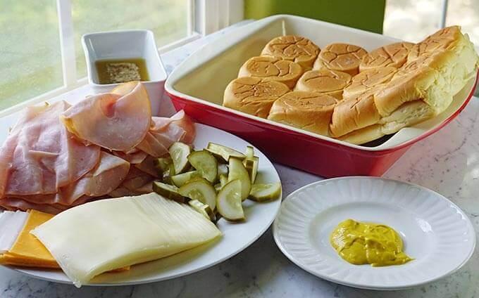 Ingredients to make Cuban Sliders Recipe